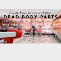 Vegan - shop selling dead body parts