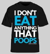 Vegan - t-shirt don't eat anything t-shirt