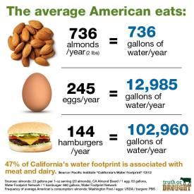 Vegan - truth stats water nuts eggs hamburgers