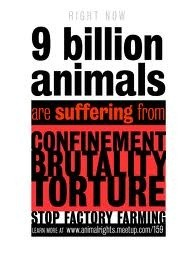 Animal abuse - 9 billion animals suffering confinement brutality