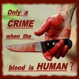 Animal abuse - Murder only a crime if blood is human
