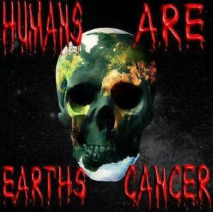 Animal abuse - Skull humans are earth's cancer
