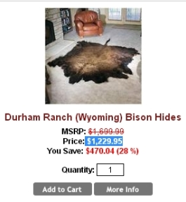 Fur and skin trade - Bison