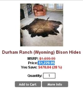 Fur and skin trade - Bison