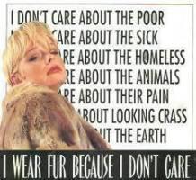 Fur and skin trade - Fur coat I don't care
