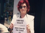 Fur and skin trade - Fur coats Sharon Osborne protests against fur