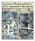 Laboratory testing - Cartoon hey Einstein working on sensitivity to others 1