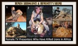 Lions - Trophy hunters female TV presenters