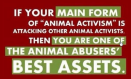 Message - Abusers activists best asset
