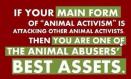 Message - Abusers activists best asset
