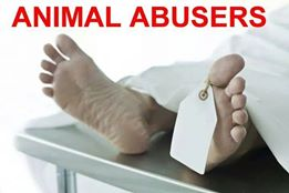 Message - Abusers body on a mortuary slab