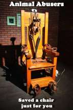 Message - Abusers chair just for you