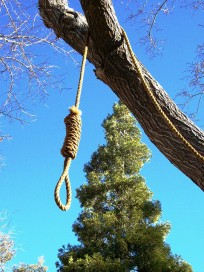 Message - Abusers noose man from a tree