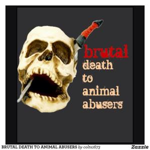 Message - Abusers skull knife through