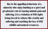 Trophy hunters - Conservation rights violation of our