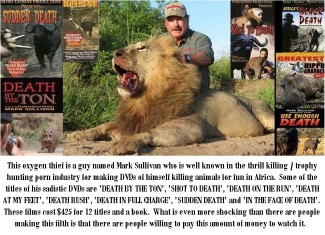 Trophy hunters - DVDs of Mark Sullivan