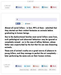 Trophy hunters - Psychos serial killers link to animal abuse