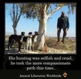 Trophy hunters - Revenge hanged himself hunter