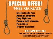 Trophy hunters - Revenge hanging free necklace