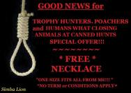Trophy hunters - Revenge hanging good news