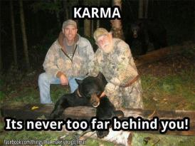 Trophy hunters - Revenge karma behind at night