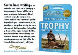 Trophy hunters - Revenge small one condom ad