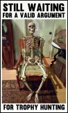 Trophy hunters - Waiting skeleton 06 sitting back in chair