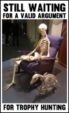 Trophy hunters - Waiting skeleton 07 armchair