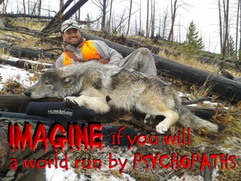 Trophy hunters - Psychos imagine a world wolf lying down