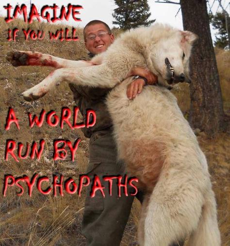 Trophy hunters - Psychos imagine a world wolf white 01